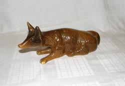Róka kerámia figura 23 cm