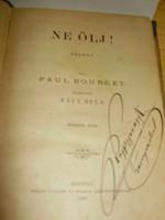 Paul Bourget: Ne ölj! I-II. kötet, 1887