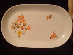 Antik jelzett  Virágdíszítésű Porcelán Kínáló GDR 33 x 16 cm