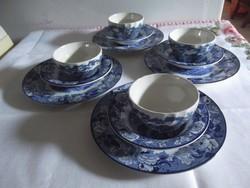 12 db-os jelzett angol porcelán teás-kávés készlet!
