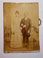 Antik fotó , házaspár Leiderhoffer Vilmos