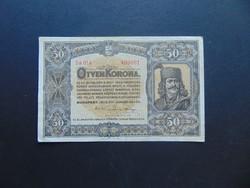 50 korona 1920 Szép ropogós bankjegy