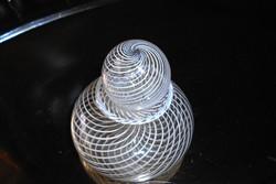 Üvegstudióban vásárolt  illatszeres üvegpalack -különleges   technikával