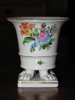 Herendi oroszlánkörmös mini porcelán váza