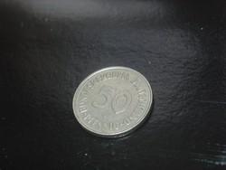 NÉMETORSZÁG NSZK 50 PFENNIG 1950 G RITKA!!! RR!!