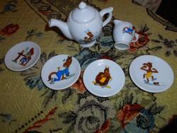 6 db játék  baba edény porcelánból