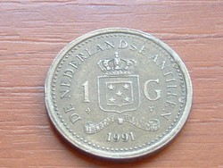 HOLLAND ANTILLÁK 1 GULDEN 1991   #