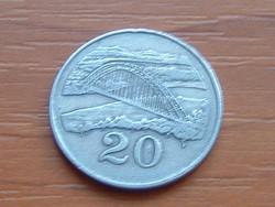 ZIMBABWE 20 CENT 1980 FOLYÓ ÉS HÍD #