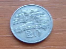 ZIMBABWE 20 CENT 1987  FOLYÓ ÉS HÍD #