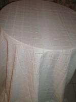 Gyönyörű könnyű fehér szélén madeira csipkés kockás hatalmas madeira terítő