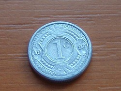 HOLLAND ANTILLÁK 1 CENT 1993   ALU. KICSI 14 mm #