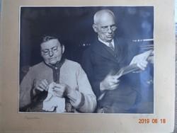 Régi, antik fénykép, fotó, idős házaspár, nagyszülők (1933)