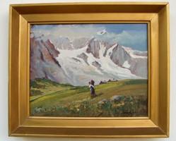 ÁR ALATT Carlo Ricci jegyzett Olasz festőművész olaj-vászon festménye
