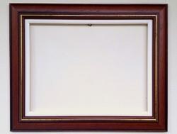 30x40 cm barna keret + betét vászonhoz is alkalmas