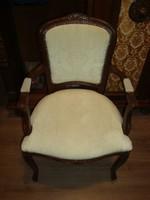 Neobarokk karosszék, karos szék, fotel - Remek állapotú karosszék - BP