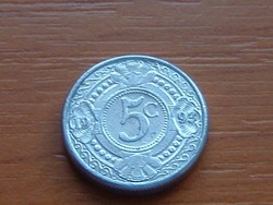 HOLLAND ANTILLÁK 5 CENT 1993  ALU. KICSI 16 mm #