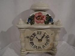 Porcelán - antik - jelzett - kézifestés - cukor - vagy fűszertartó fél liter 17 x 14 x 9,5 cm -