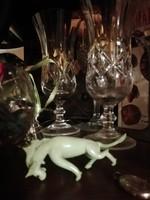 Igazi Antik zöld üveg sárkány mini