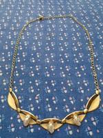 ROLLED GOLD COLIER ANGOL 9 K  ARANY  3 DB IGAZGÖNGYEL  9,8 GRAMM 47 CM