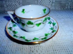 Zsolnay porcelán  csésze és csészealj-HERENDI mintával- festői szignó 1936. I. hó 18
