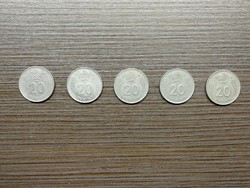 20 Forint 1982;1983;1984;1985;1989