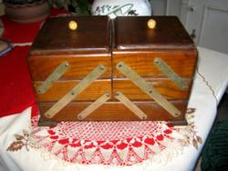Régi  fa varró ládika varró doboz