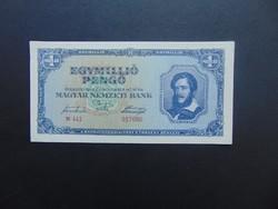 1 millió pengő 1945 N 441 Hajtatlan bankjegy !