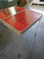 Retro játékasztal összecsukható