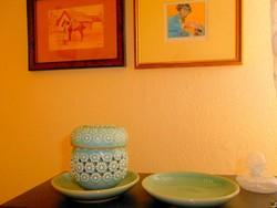Kínai szeladon (celadon) mázas szignált kerámiák