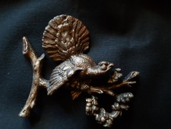 Aluminium kisplasztika, bronz festéssel, fajdkakas