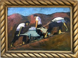 Extra ritka! Góth Imre - Berlin (1893-1982) olaj/karton zseniális mű