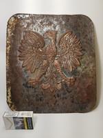 Antik, császári sast ábrázoló domború fém címertábla / falidísz