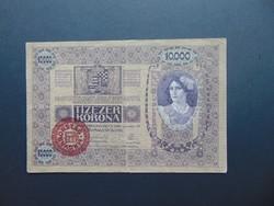 10000 korona 1918 Magyarország Felülbélyegzés !