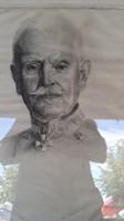 Antik osztrák katona tiszt
