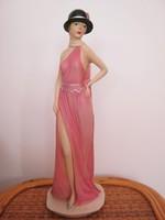 Capodimonte szobor kalapos hölgy