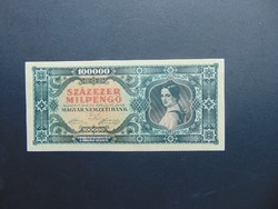 100000 milpengő 1946 B 115 aUNC ! Hajtatlan bankjegy