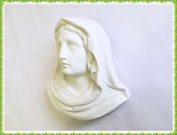 Rendkívül szép, Szűz Máriát ábrázoló domború porcelán fali dísz