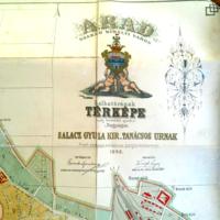 Arad szabad királyi város belhatárának térképe 1882./Virágh Lajos