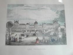 Párizs, Tuileriák rézkarc nyomat, keretezve, üvegezve