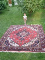 Hatalmas antik perzsa szőnyeg 387 x 296 cm!