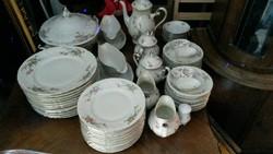 120 darabos Tielsch-Altwasser porcelán étkészlet