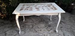 Provence neobarokk asztal