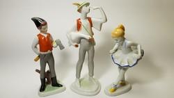 Klasszikus hollóházi porcelán figurák egy csomagban.
