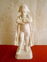 Fehér kerámia Napóleon szobor 21 cm magas