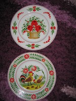 Ritka limitált Hollóházi tányérok, 2 db, 102/ 1-2, 26,5 cm