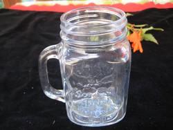 Füles üveg korsó   10 x 13 cm