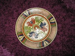 Kerámia, tál  tányér, ritka mintával, 21cm, 95.