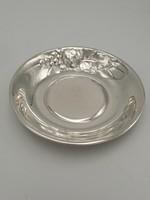 Art deco ezüst tál, kézzel készült