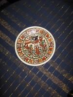 Korondi kerámia tál, tányér,  18,5cm, (55)
