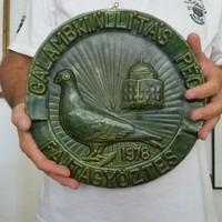 Zsolnay: pécsi Galambkiállítási Fajtagyőztes díj, 1978